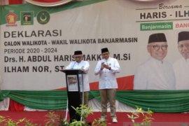 Angkat Banjarmasin Bangkit, Haris- Ilham resmi deklarasi maju Pilkada