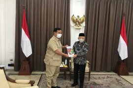 "Wapres Ma'ruf dan Menhan Prabowo bahas program ""food estate"""