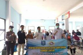 Pemerintah Kabupaten Bangka Tengah santuni lansia terdampak corona