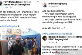 Pasangan SALWA mendaftar, KPU Tanjungbalai halangi wartawan meliput