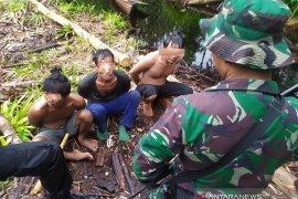 Tim gabungan tangkap tiga pelaku illegal logging dilahan konservasi di Muarojambi
