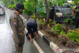 Ratusan warga Balikpapan terjaring razia masker