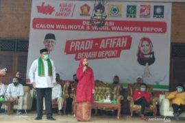 Pasangan Pradi-Afifah didukung 12 partai maju Pilkada Depok