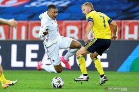 Mbappe akui cedera pergelangan kaki kambuh usai laga lawan Swedia