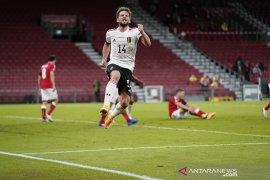 Belgia menang meyakinkan 2-0 di Denmark untuk puncaki Grup A2