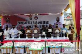 Polisi musnahkan 211,2 kilogram sabu-sabu senilai Rp160 miliar