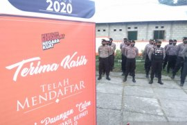 Polres Gorontalo terjunkan 184 personel amakan tahapan awal Pilkada