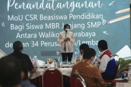 36 perusahaan di Surabaya beri beasiswa pendidikan senilai Rp4 miliar