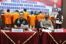 Ditresnarkoba Polda Malut tangkap tujuh pengguna dan pengedar narkoba