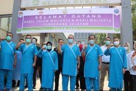Tiga pasang calon peserta Pilkada Tangsel menjalani pemeriksaan kesehatan