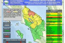 BMKG: Awal September terjadi 25.669 kali petir  di Sumut