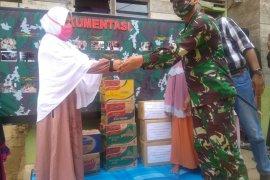 Personil Korem 011/Lilawangsa patungan dana bangun rumah janda korban kebakaran