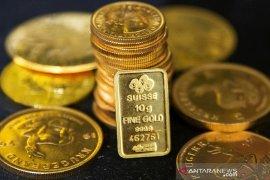 Harga emas berjangka menguat