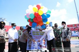 Polda Sumut bagikan dua juta masker  untuk masyarakat