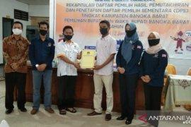 KPU Bangka Barat tetapkan 134.273 pemilih terdata dalam DPS