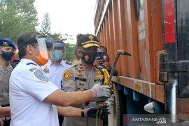 Kepolisian Sumsel gencarkan operasi truk kelebihan dimensi dan muatan
