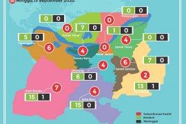 Peta sebaran pasien  COVID-19 di Kota Jambi, Minggu (13/9)