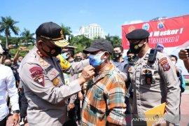 Mulai hari ini Polda Sumatera Utara  tindak warga tak pakai masker