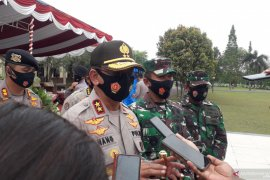 Kapolda Bangka Belitung cek kesiapan pasukan pengamanan Pilkada Bangka Tengah