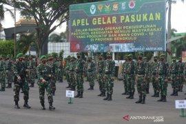 Operasi disiplin protokol kesehatan, Korem Garuda Emas kerahkan 816 prajurit