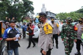 Kapolda Sumut tinjau Operasi Yustisi  dan tegur warga tak pakai masker