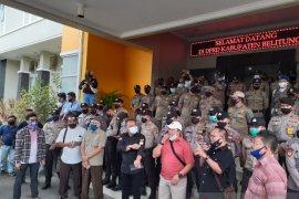 Buruh di Belitung tolak pengesahan Undang-Undang Cipta Kerja