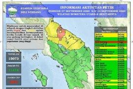BMKG catat terjadi 15.073 kali petir  di Sumut 7-13 September