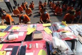 Polresta Kediri tahan 29 tersangka kasus narkoba