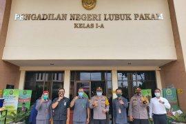 Polrestas Deli Serdang-PN Lubuk Pakam koordinasi terkait pelaksanaan Operasi Yustisi