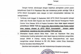 RSUD Gunungsitoli tidak melayani tes usap pasien OTG