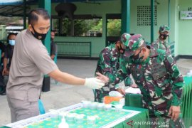 65 prajurit TNI di Nagan Raya negatif narkoba