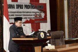 Gubernur beri penjelasan atas pandangan fraksi DPRD terhadap APDB perubahan