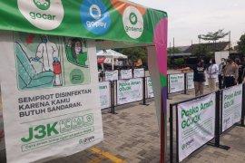 """Posko aman bersama Gojek, """"J3K bentuk nyata Gojek prioritaskan keamanan dan kesehatan mitra serta konsumen"""""""