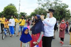 Wawali pimpin gebrak masker di Lapangan Murjani