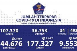 Kasus positif COVID-19 Indonesia bertambah 3.989 dan 2.977 sembuh