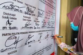 Parpol sepakat patuhi protokol kesehatan di Pilkada Solok Selatan