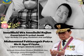 Gubernur Jambi sampaikan duka mendalam atas wafatnya putra bungsu Wali Kota Jambi