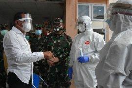 Pangdam I/BB dan Gubernur Sumut cek penanganan COVID-19 di Nias