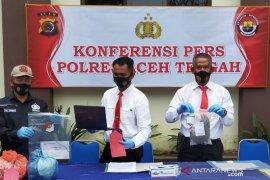 Polres Aceh Tengah amankan tersangka pemilik 116,28 gram ganja kering