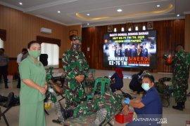 Sambut HUT ke-75 TNI, Kodim 0212/TS gelar aksi donor darah
