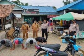 Polsek Padang Tualang Langkat tindak warga tak pakai masker