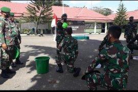 Dandim 1008/Tanjung pimpin tradisi penerimaan anggota baru
