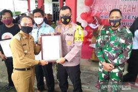 Kapolres Bangka terima piagam penghargaan relawan PMI