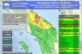 BMKG catat terjadi 15.455 petir di Sumut pekan  ketiga September