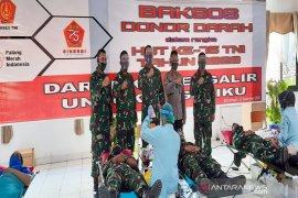 Donor darah HUT Ke-75 TNI bantu stok PMI di tengah pandemi
