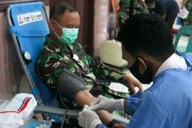 Rangkaian HUT Ke-75 TNI, Korem 011/Lilawangsa kumpulkan 332 kantong darah