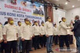Pengurus KONI Tanjungbalai masa bakti 2020-024 dilantik