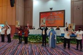 KPU Paser tetapkan nomor urut empat pasangan calon