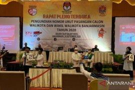 KPU tetapkan nomor urut empat pasangan calon Pilkada Banjarmasin