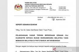 Malaysia terapkan biaya karantina WNA Rp16 juta